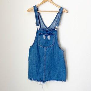 Eighty Two Medium Wash Denim Skirt Overalls Medium